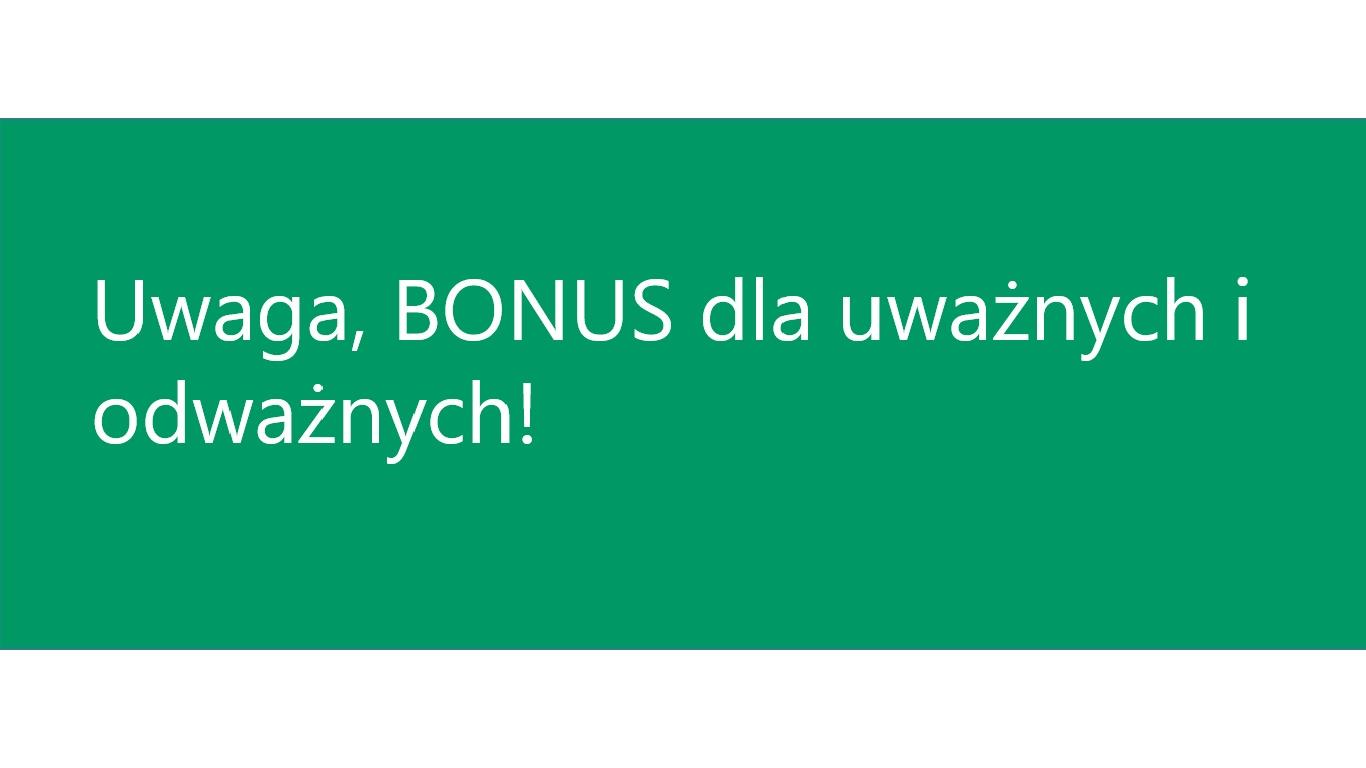 Bonus praKreacja.pl