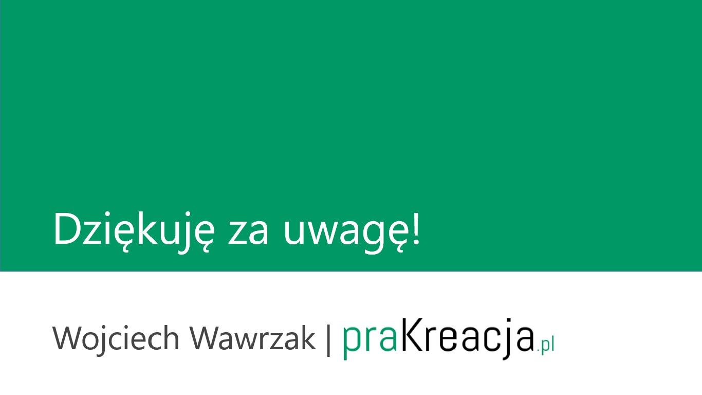 dziękuję od praKreacja.pl
