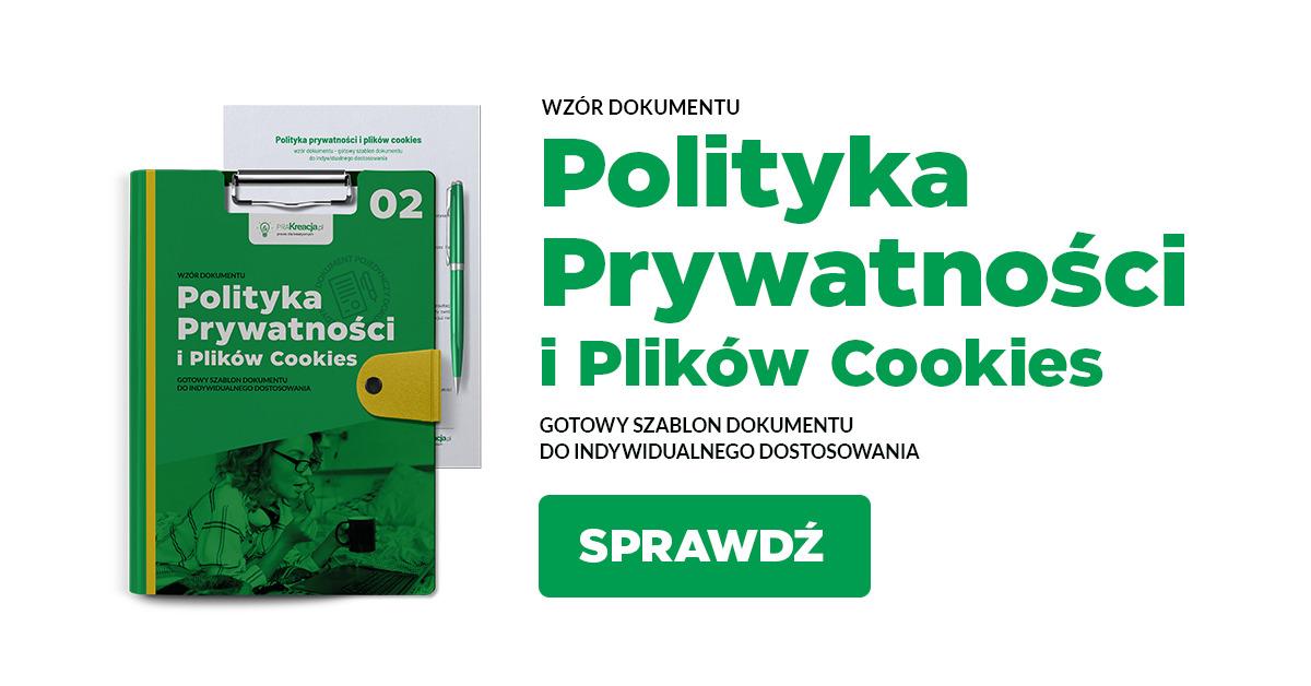 Polityka prywatności i plików cookies - pakiet