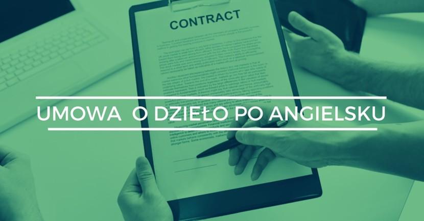 umowa o dzieło po angielsku